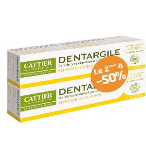 Lot X2 Dentargile Citron 75 Ml  Cattier
