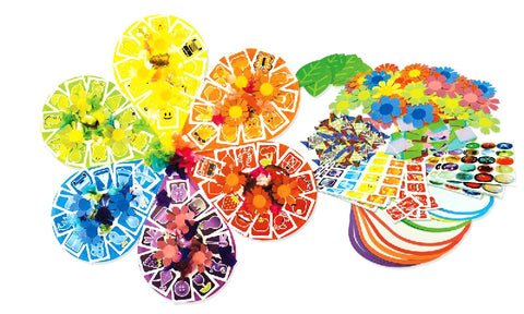 Image of Roylco R15680 Flower Wheel Kit component with artwork