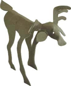 Image of Roylco R16037 Wild Animal Sculpture Cards showing moose design