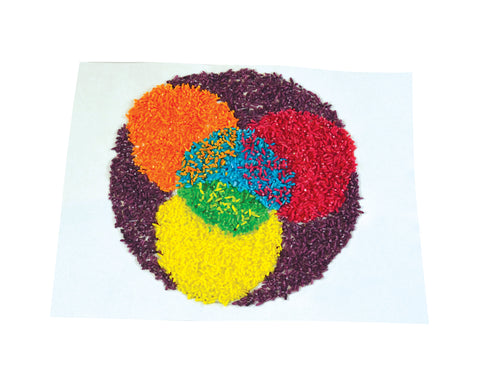 Image of Roylco R21145 Sensory Rice example of circle Mandela artwork