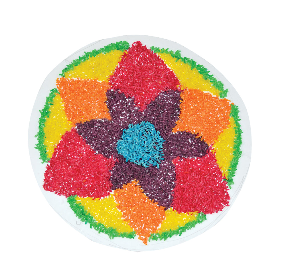 Image of Roylco R21145 Sensory Rice example of flower Mandela artwork