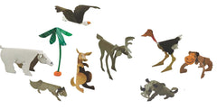 Image of Roylco R16037 Wild Animal Sculpture Cards showing all eight designs