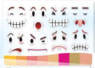Image of Roylco R33251 Peeling Feelings Emotion Stickers Close Up
