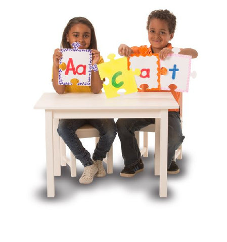 Image of Roylco R52062 We All Fit Together Giant Puzzle Pieces example of language arts activity