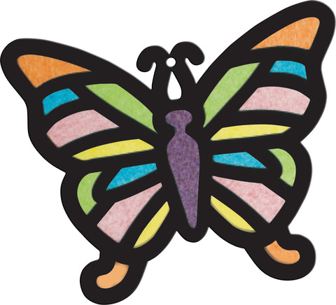 Image of Roylco R52070 Stained Glass Butterfly Design