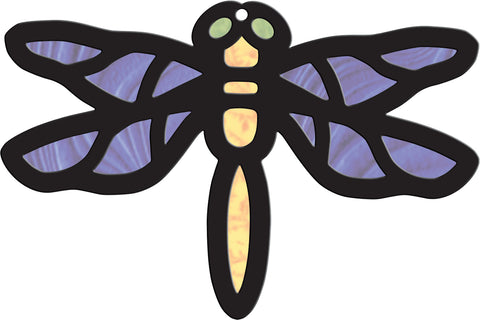 Image of Roylco R52070 Stained Glass Dragonfly Design