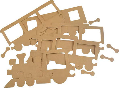 Image of Roylco R52109 Train Frames not decorated