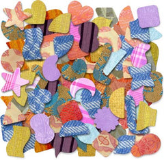 Image of Roylco R59650 Feely Fabrics assortment shapes