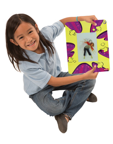 Image of Roylco R62019 Action Exercise Cards Child holding one card