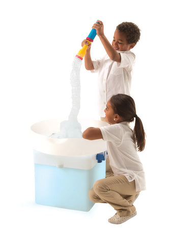 FEWW Education Super Bubble Pump Boy and Girl Playing with Product