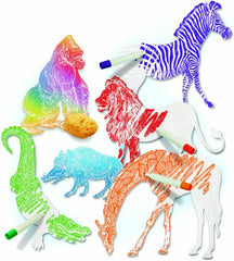 Color Reveal African Animals