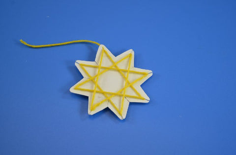 Image of Roylco R16024 Stringing Shapes Star of artwork yellow star