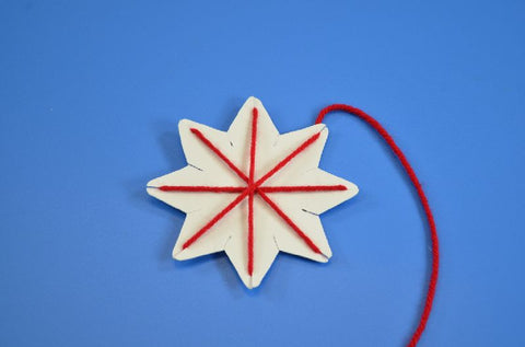 Image of Roylco R16024 Stringing Shapes Star example of artwork red star