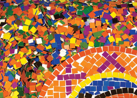 Double Color Mosaic Squares