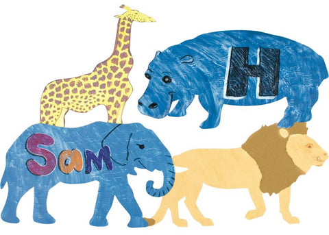 Finger Paint Zoo Animals Paper