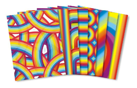 Image of Roylco R15295 Rainbow Paper designs