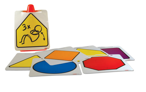 Image of Roylco R62031 Dry-Erase Cone Signs in a pile