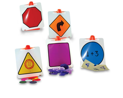Image of Roylco R62031 Dry-Erase Cone Signs five designs