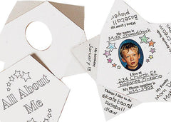 All About Me Star Cards