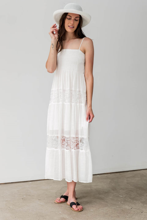 Cotton Blend Ramy Maxi Dress
