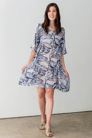 Cotton Blend Alia Midi Dress