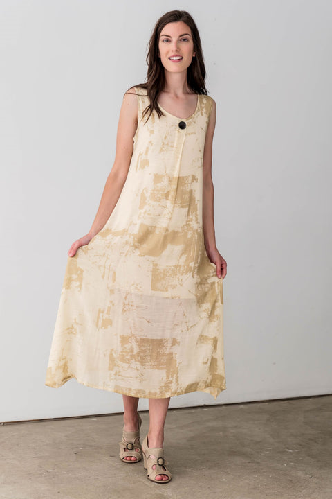Mary Cotton Blend Maxi Dress