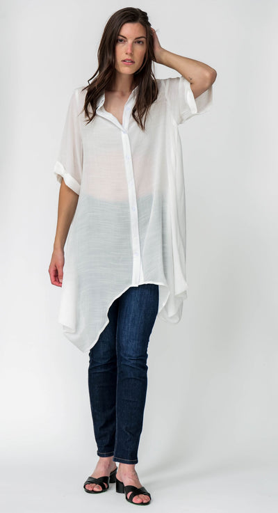 G&F Amelia Cotton Blend Tunic Shirt