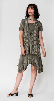 Jersey Knit Tunic Set - Breathable Naturals | Glam & Fame Clothing