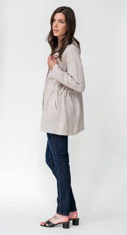 Linen Premium Washed Trench Coat