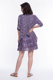 3 Pc. Embroidered Ruffle Tunic Set