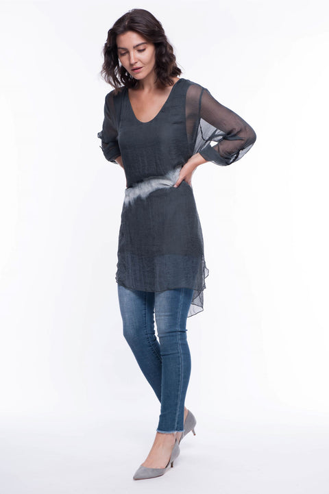 Long Dip Dye Tunic