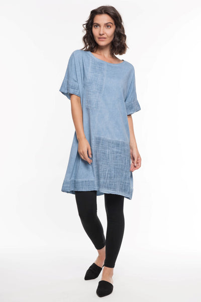 European Cotton Terry Mixed Media Tunic