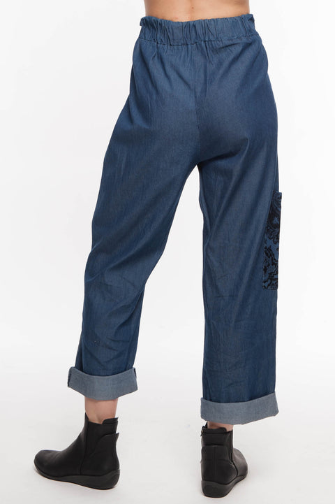 European Cotton Denim Pants