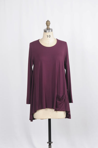 Jersey Pocket Tunic - Glam & Fame | Breathable Naturals