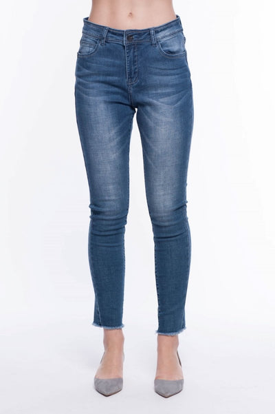 Alexa-Dan Skinny Jeans - Breathable Naturals | Glam & Fame Clothing