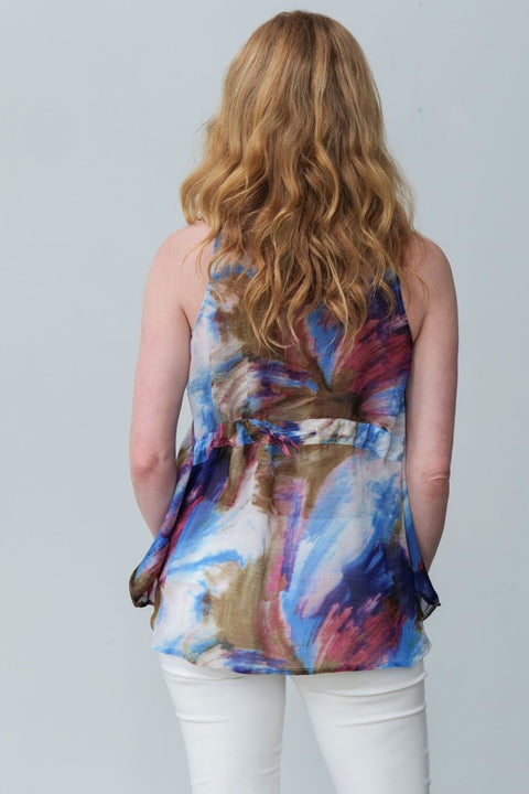 Chiffon Sleeveless Amy Top - Breathable Naturals | Glam & Fame Clothing