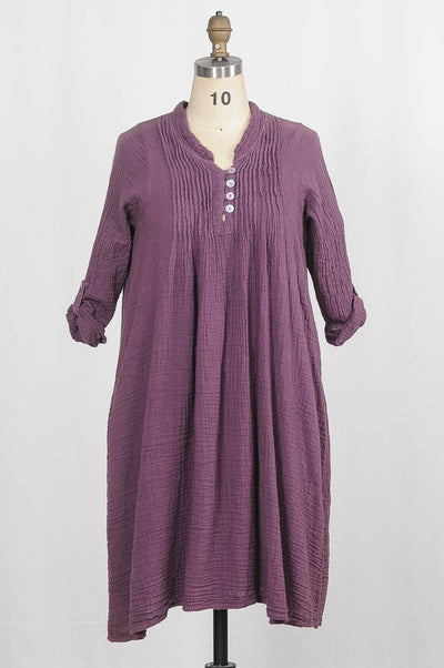 Tunic Dress in Cotton - Glam & Fame | Breathable Naturals
