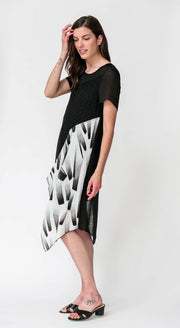 Brushstroke Lace Dress - Breathable Naturals | Glam & Fame Clothing