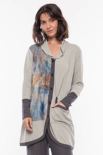 Cardigan Contrast Trim - Breathable Naturals | Glam & Fame Clothing