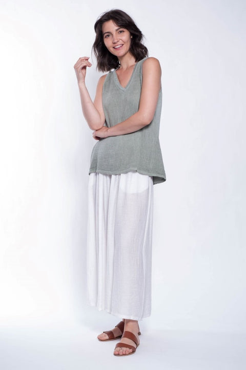 Claudia Palazzo Pants - Breathable Naturals | Glam & Fame Clothing