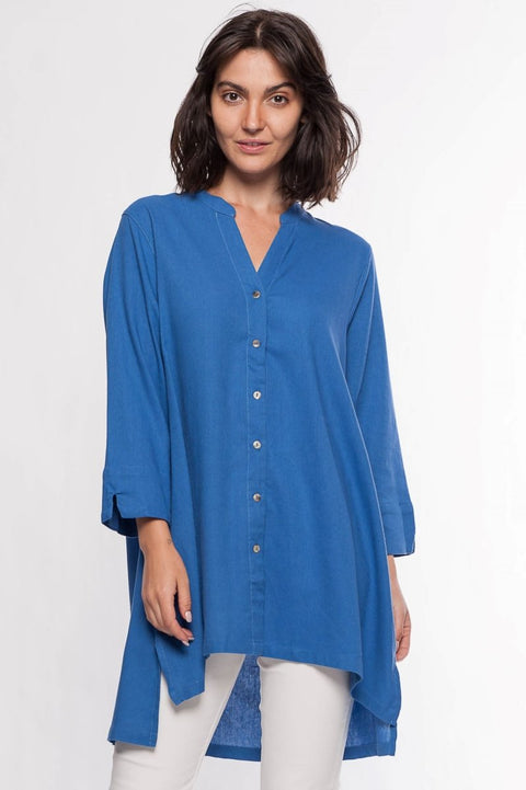 Cotton Blend Blouse - Breathable Naturals | Glam & Fame Clothing