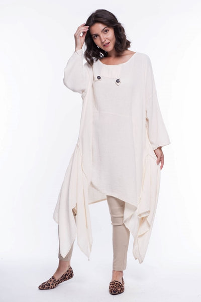 Cotton Gauze Midas Dress - Breathable Naturals | Glam & Fame Clothing