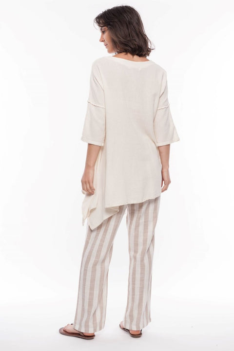 Holly Cotton Tunic - Breathable Naturals | Glam & Fame Clothing