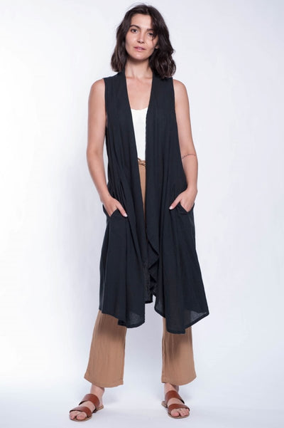 Cotton Long Duster with Side Pockets - Breathable Naturals | Glam & Fame Clothing
