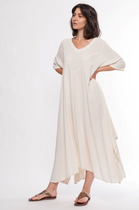 Cotton Maxi Cardinal Dress - Breathable Naturals | Glam & Fame Clothing