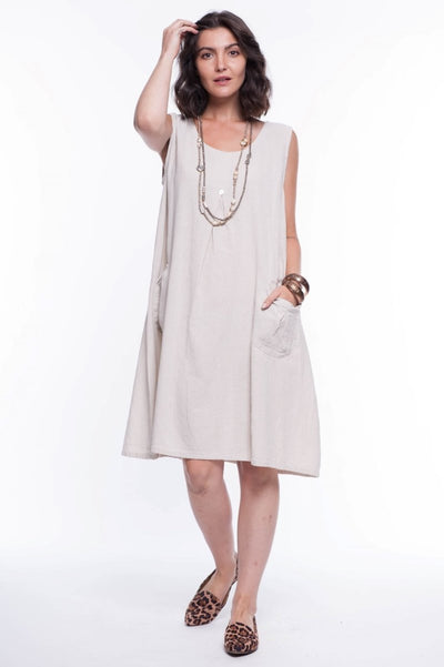 Cotton Midi Dress - Breathable Naturals | Glam & Fame Clothing