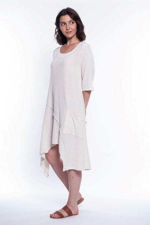 Cotton Tango Dress - Breathable Naturals | Glam & Fame Clothing