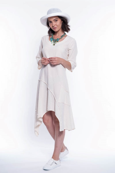 Tango Midi Cotton Dress - Breathable Naturals | Glam & Fame Clothing