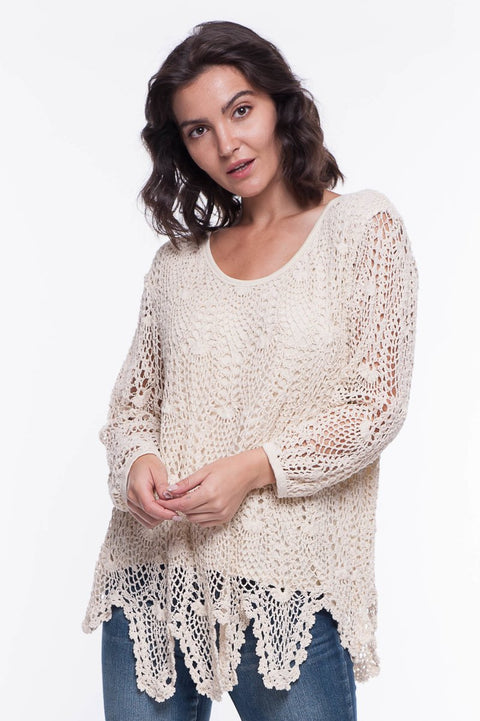 Crochet Tunic - Breathable Naturals | Glam & Fame Clothing