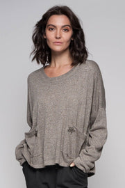 European Angora Slouchy Knit Top - Breathable Naturals | Glam & Fame Clothing